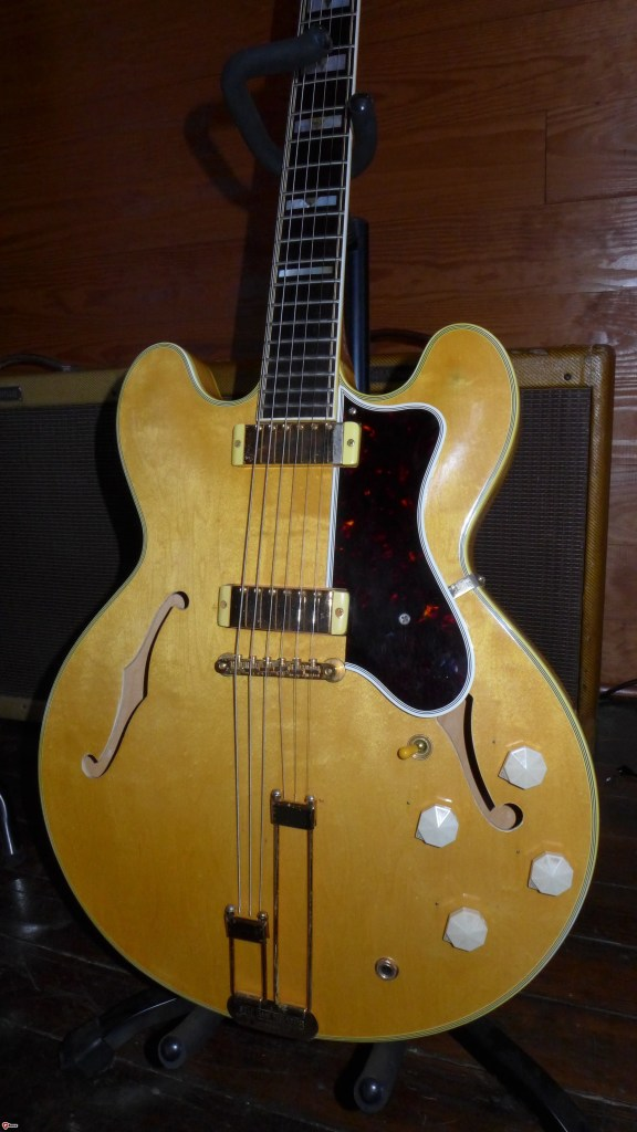 This guitar stops my heart. I've had two of them and I really didn't want to let either one go. Great looker, great player and a great value. These should be $50,000 or more. They are relatively cheap if you can find one. This is a 60 Gibson made Epiphone Sheraton.