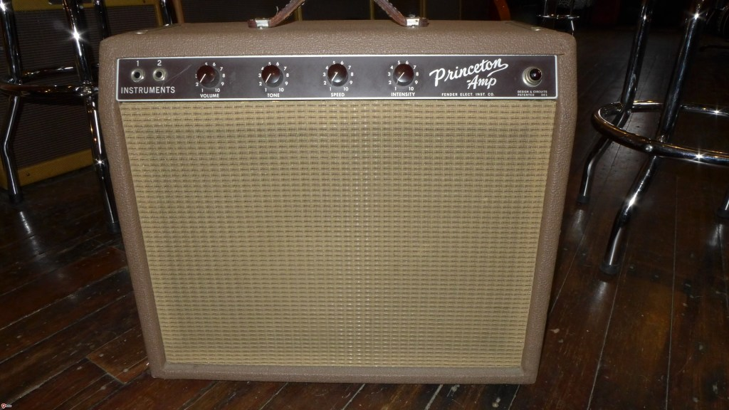 Collector grade 63 Princeton. All original except for three prong AC cord and filter caps. Nice Tuki cover too. $2600