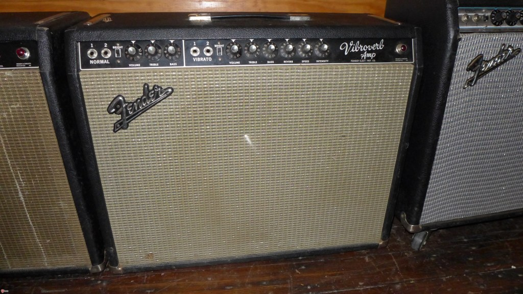 "One of the rarest of the Fender amps. And one of the best. 15"" speakers for guitar are awesome. This has a factory JBL D130F.  All original except for filter caps. Theres a small hole in the grill cloth but otherwise excellent. $4800"