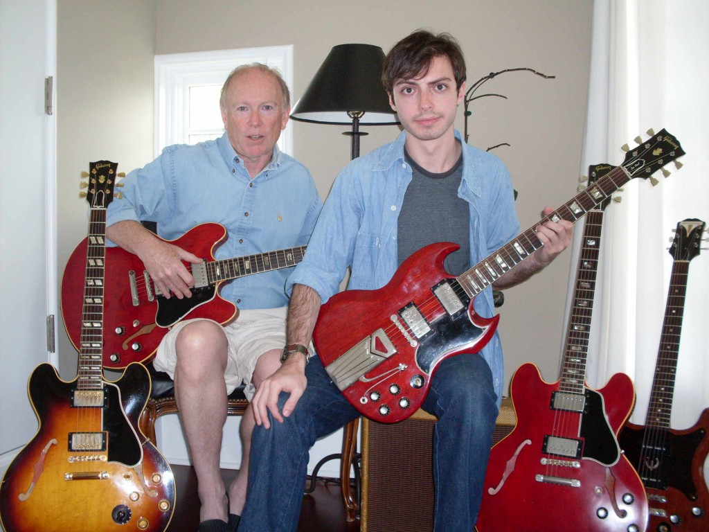 My son, the writer. He's the one holding the SG. I'm the old guy.