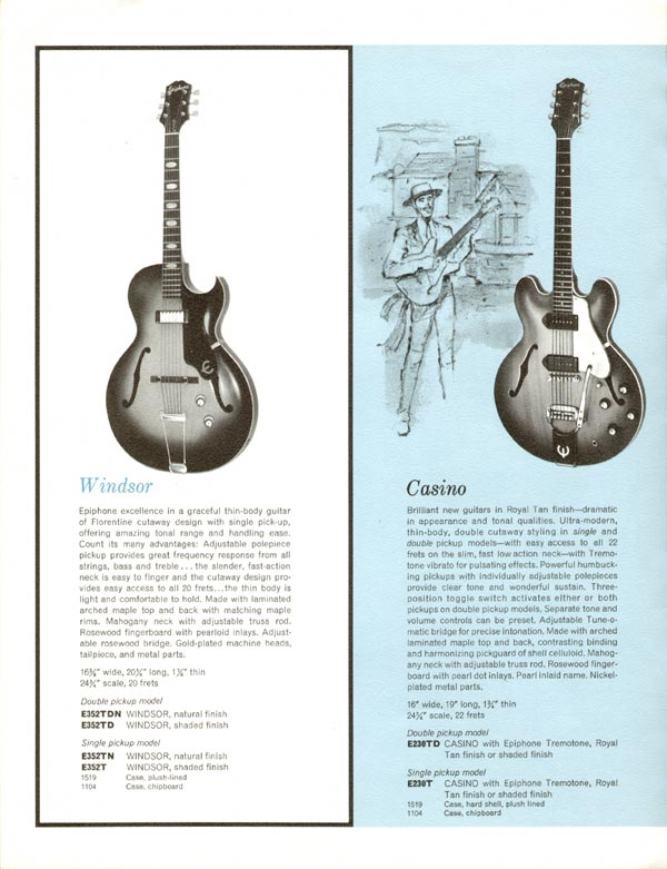 According to the catalog, Royal Olive wasn't an option. Nor was a trapeze tailpiece. Also the text says shell guard and it's clearly white. Didn't they have proofreaders in 61?