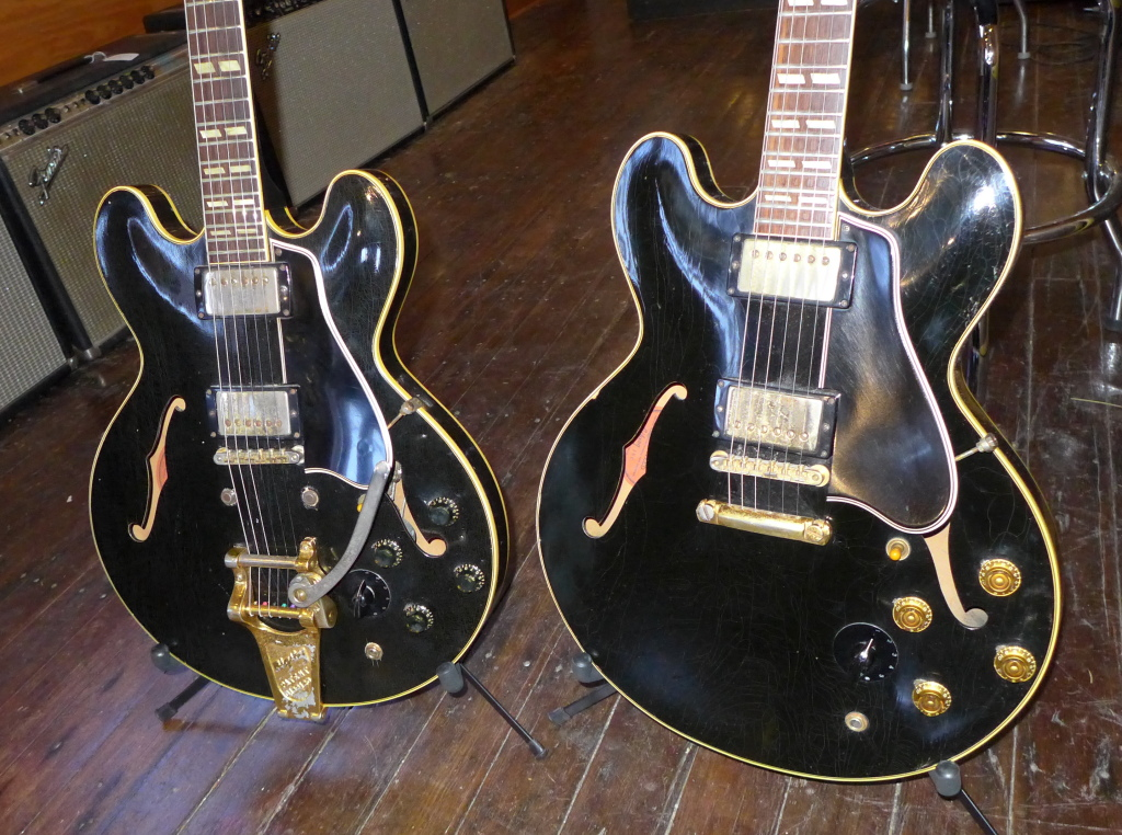 "Two of the three black 59 ES-345's that have passed through my hands. Both were great. Both were ""first rack""."
