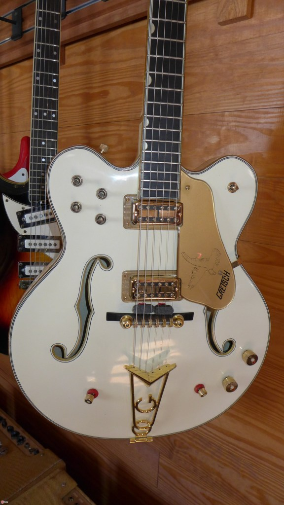 So you like a lot of switches on your guitar and plenty of tonal possibilities? According to Gretsch, there were 54 varieties available on the stereo White Falcon-the top of the Gretsch line from the mid 50's and beyond. It's a cool retro guitar but definitely not for everybody.