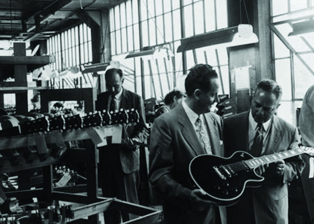 Looks like a busy day at Parsons Street. How can you get any work done around here with guys like Les Paul and Ted McCarty doing photo ops while you're trying to build a guitar.