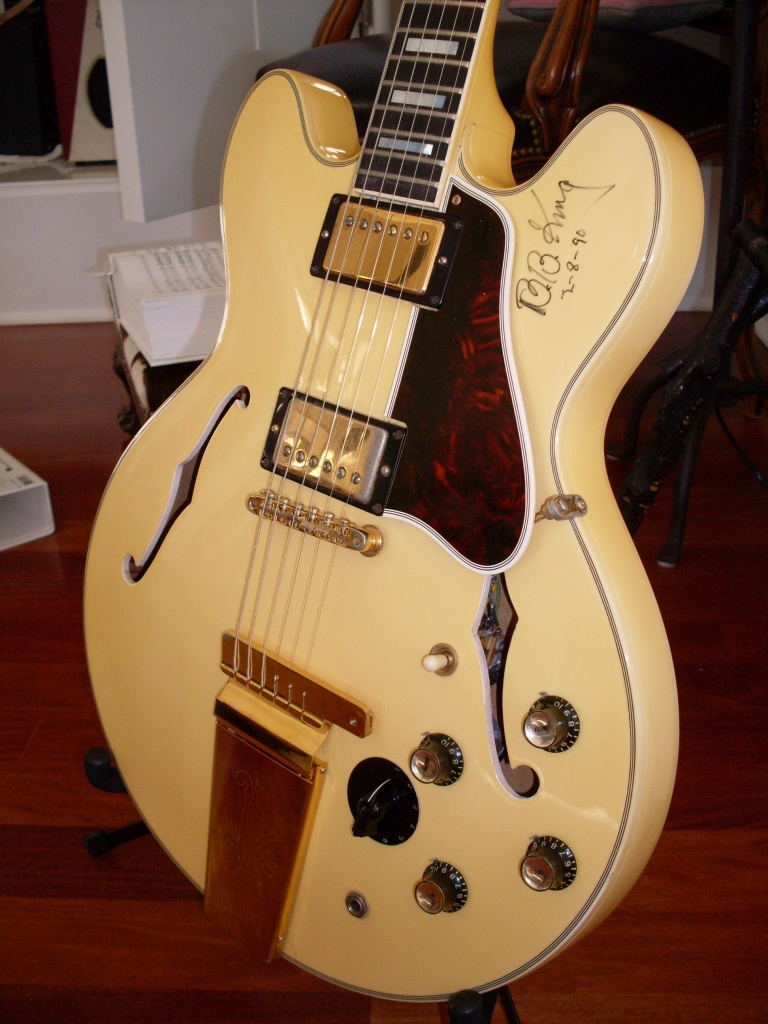 I once had a white '65 ES-355 with BB Kings autograph on it. It probably would have sold for more without it but the buyer was a BB King fan, so I left it.